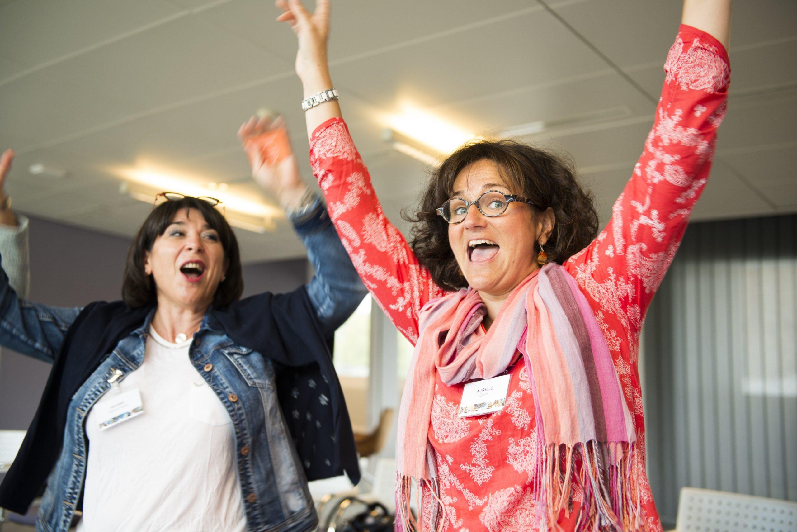 Des participantes enthousiasmées