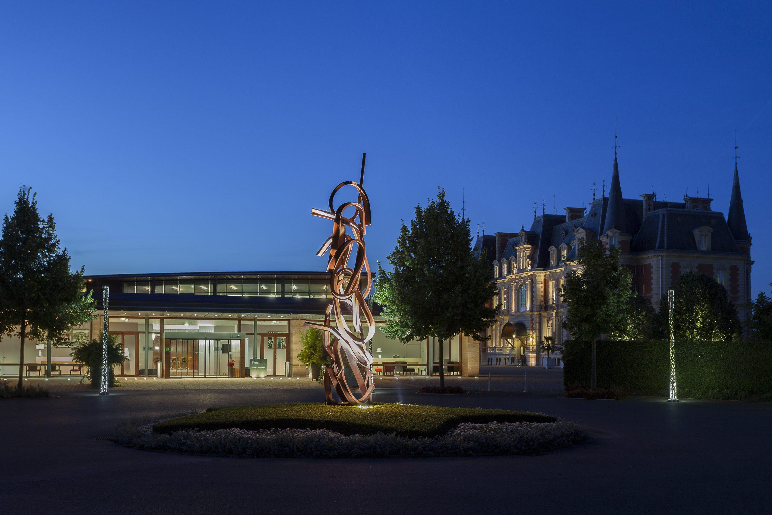 Le Campus Serge Kampf Les Fontaines de nuit